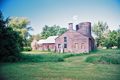 18th century Truman Wheeler outbuildings, barn and house, owned by the Great Barrington Historical Society