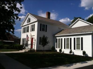 """Westfield's """"Our House"""". A bright white historic home that was converted to housing for homeless youth."""