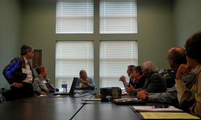 A group of CPA advocates, enthusiasts and Community Preservation Committee members meet during a 2010 CPA Conference in Northampton