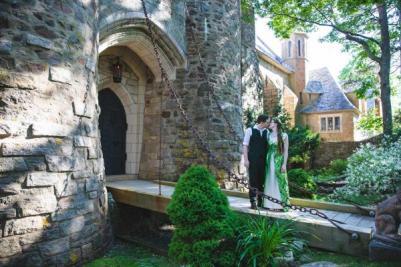 Wedding at Hammond Castle - Photo by Brianna Cox