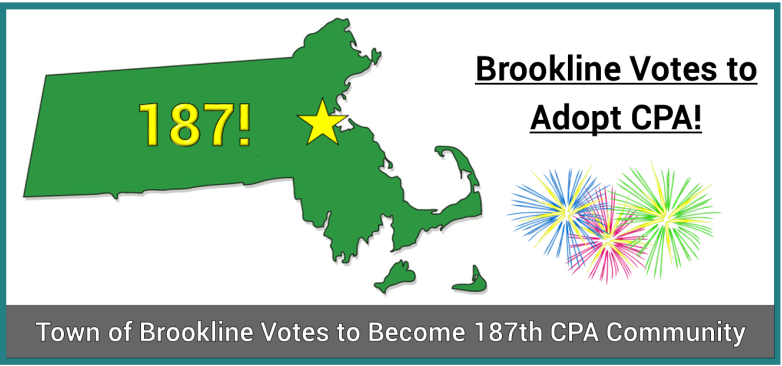 CPA Adoption Update: Brookline Passes Adoption as the 187th CPA Community