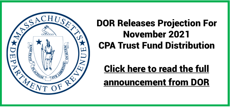 DOR Issues Estimate for Fall 2021 CPA Trust Fund Distribution